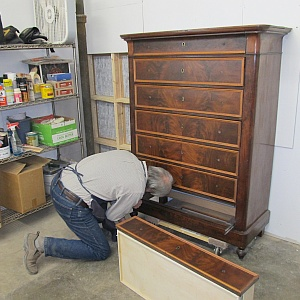 Specializing in restoration and conservation of antique wood furniture
