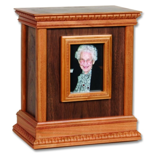 Framed Classic Wood Cremation Urn