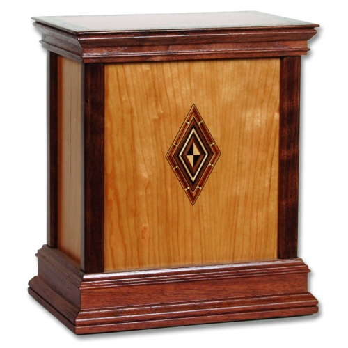 Harmony Contemporary Wood Cremation Urn