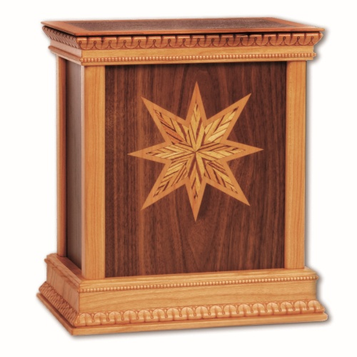 Star Classic Wood Cremation Urn