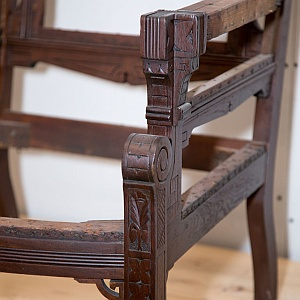Antique chair refinish and repair